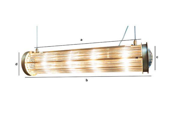 Dimensions du produit Lampe suspendue Newton