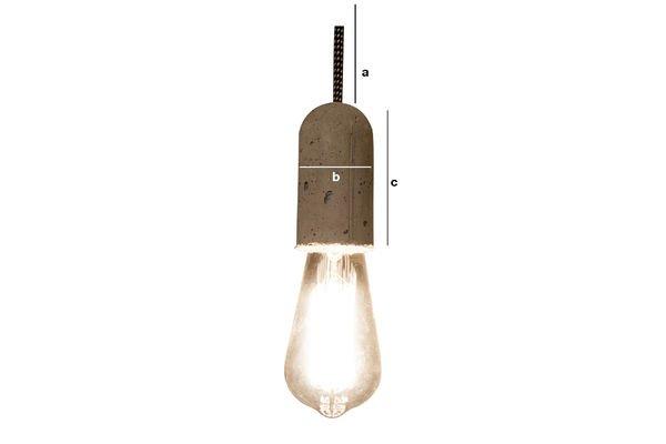 Dimensions du produit Lampe suspendue NUD Ciment