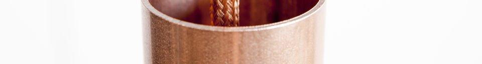 Mise en avant matière Lampe suspendue NUD Copper