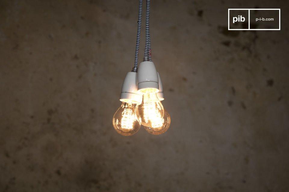 Lampe suspendue porcelaine NUD