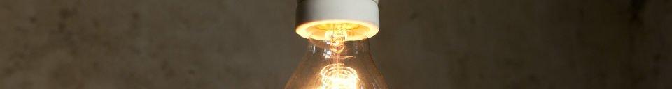 Mise en avant matière Lampe suspendue porcelaine NUD