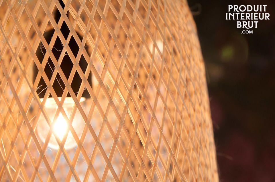La légèreté d'un luminaire 100% naturel
