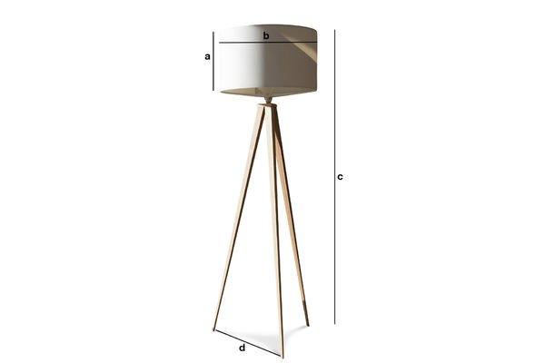 Dimensions du produit Lampe trépied Kavinskï