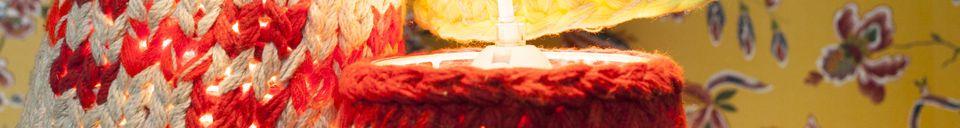 Mise en avant matière Lampes tricot Maty
