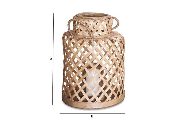 Dimensions du produit Lanterne en bambou Saïgon