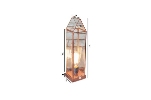 Dimensions du produit Lanterne en verre Emma