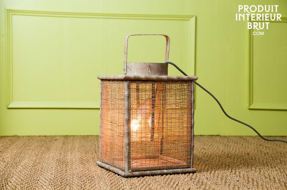 Lanterne tresse de bambou