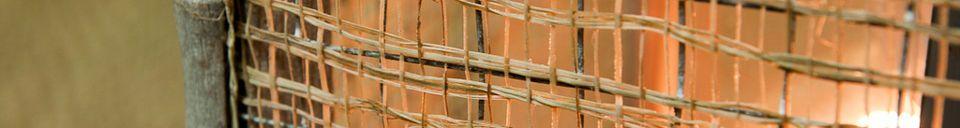 Mise en avant matière Lanterne tresse de bambou