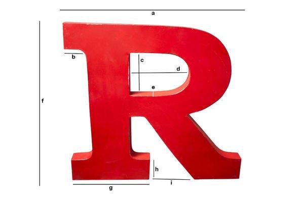 Dimensions du produit Lettre d'enseigne R