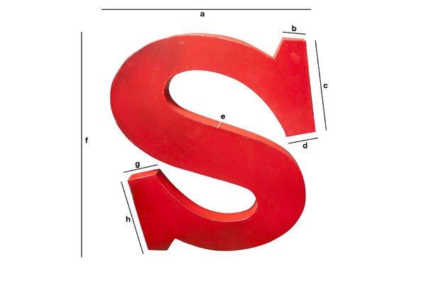 Dimensions du produit Lettre d'enseigne S