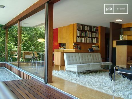 L'Intérieur de la maison d'Edward J. Flavin - Richard Neutra Architect 1957