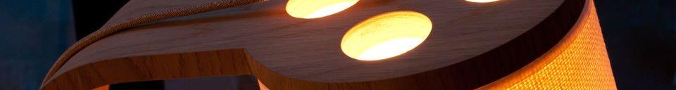 Mise en avant matière Liseuse en bois Lodge
