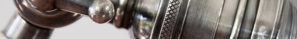 Mise en avant matière Liseuse orientable en métal
