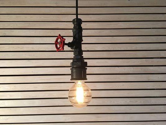 luminaire industriel style récup