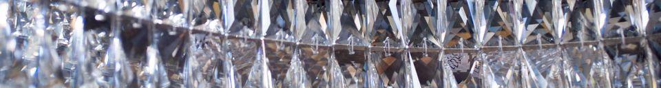 Mise en avant matière Lustre en verre Monte Carlo