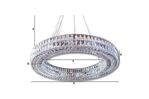 Dimensions du produit Lustre en verre Monte Carlo