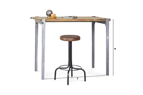 Super Mange-debout Wellington - Table haute en teck massif | pib WZ16