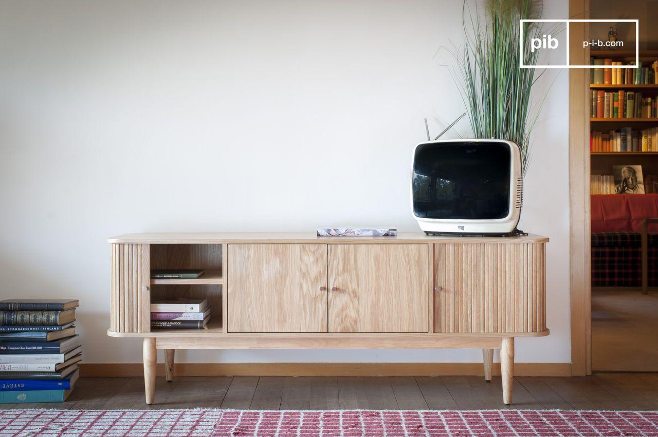 Meuble Tv Vintage Bascole Design Haut En Contrastes Pib # Meubles Tv Haut Vintage