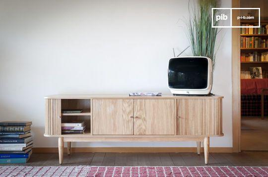 Meuble tv vintage à rideaux ritz