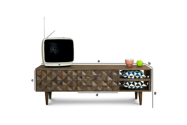 Dimensions du produit Meuble TV Balkis