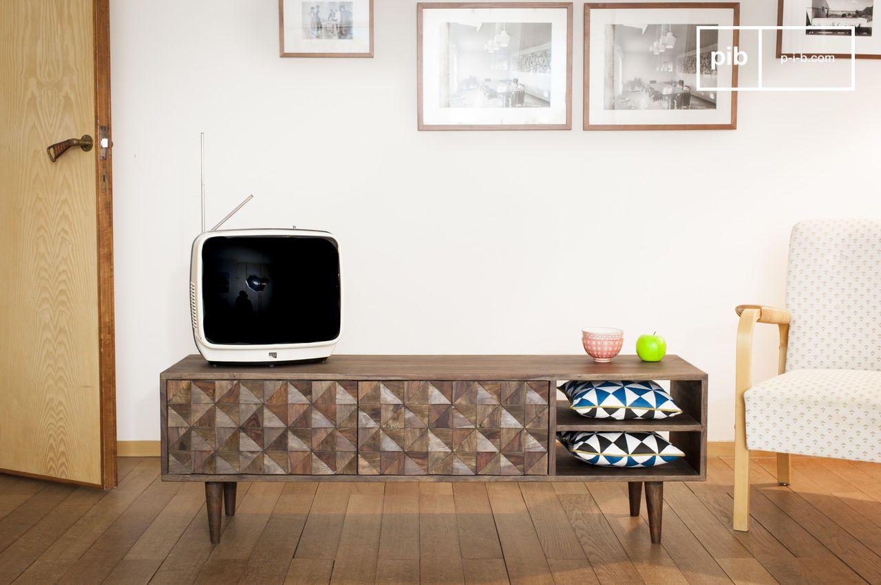 Meuble Tv En Bois Zurich Bois Clair Et Esprit R Tro Pib # Meuble Tv Suspendu Scandinave