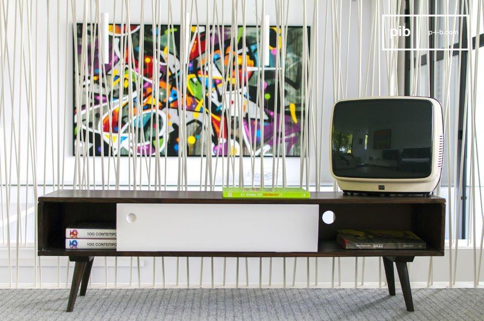 Meuble Tv Vintage Brown N White Esprit Vintage Pib Luxembourg
