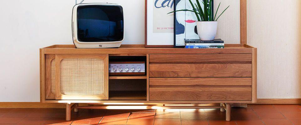 meuble tv en chêne clair aarne