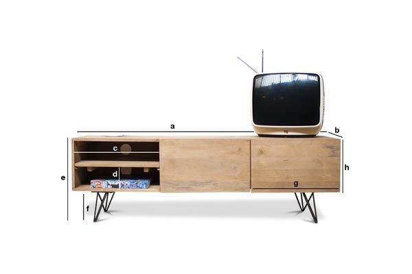 Dimensions du produit Meuble TV en bois Zurich
