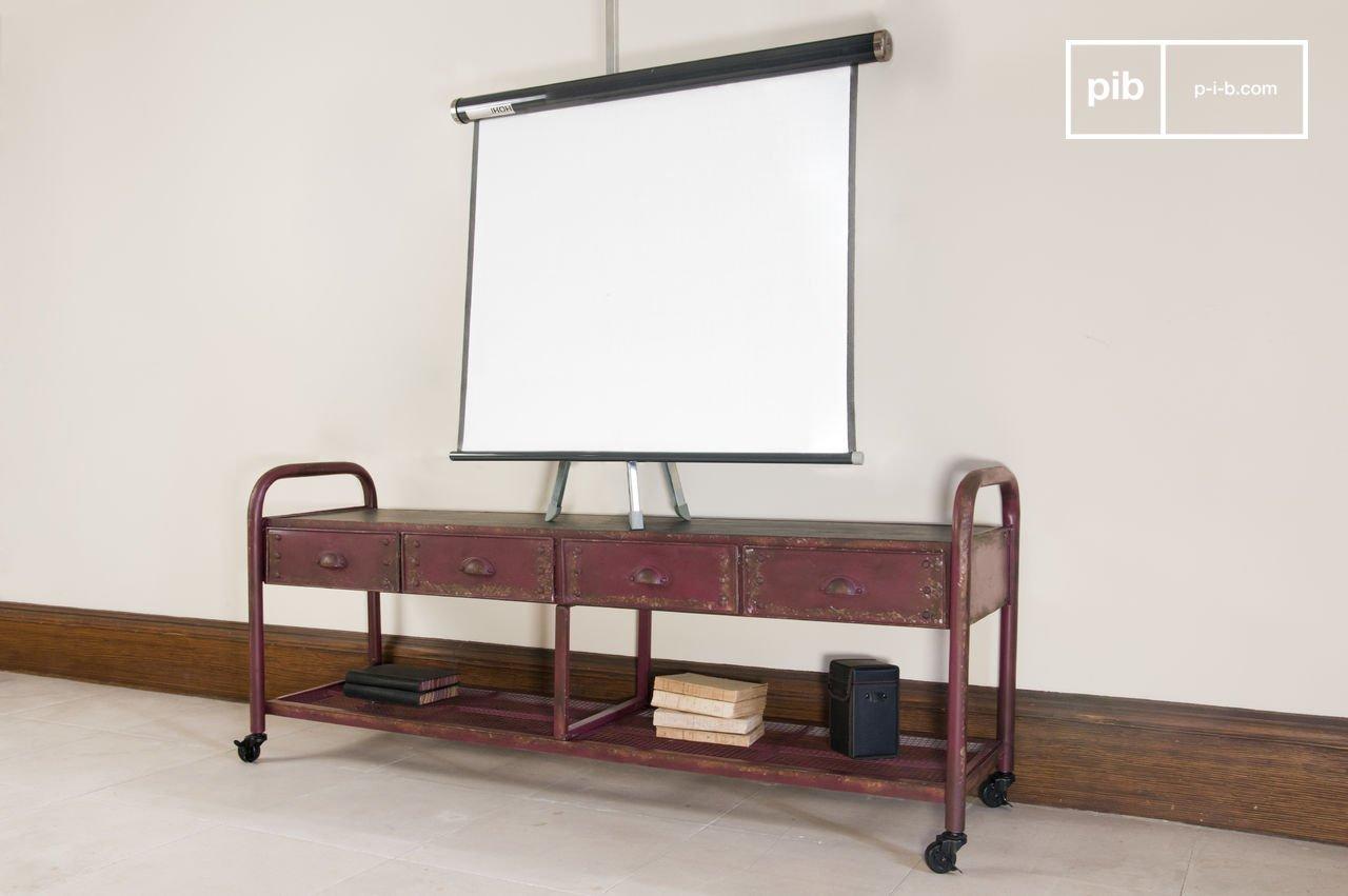 meuble tv industriel patiné - un meuble pratique et | pib