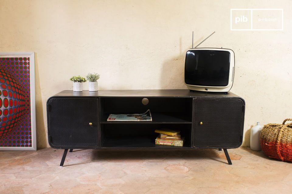 Meuble tv minoterie conception m tallique et ligne 50 39 s for Meuble tv campagne chic