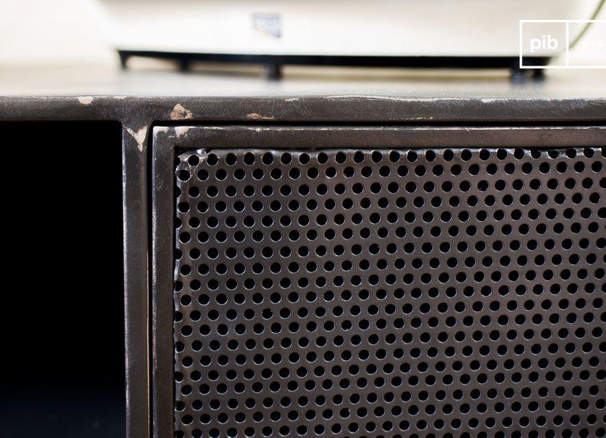 meuble de rangement (qui s\'associera bien avec une etagere industrielle)qui associe avec brio deux