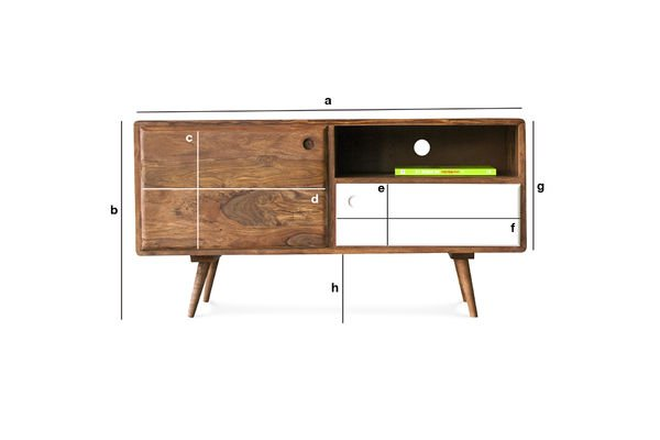 Meuble tv scandinave 1969 meuble t l de style r tro pib for Dimension meuble tv