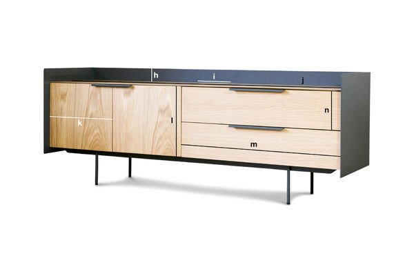 meuble tv scandinave jackson bois clair et pib. Black Bedroom Furniture Sets. Home Design Ideas