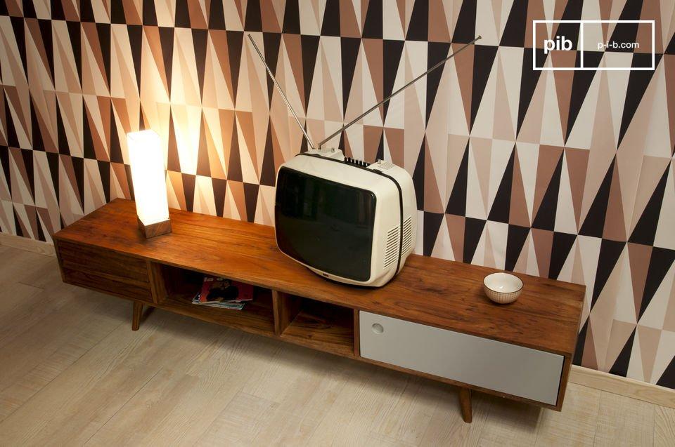 Meuble tv scandinave stockholm meuble t l en bois style - Meuble tv infrarouge ...