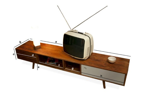Meuble tv scandinave stockholm meuble t l en bois style for Dimension meuble tv