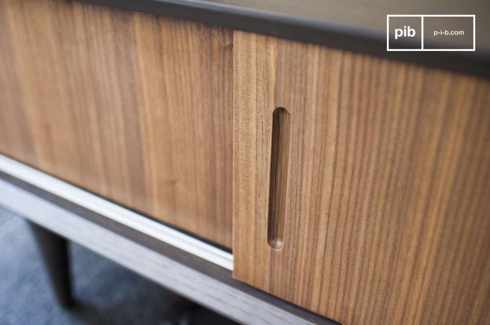 Meuble TV en bois au style années 60