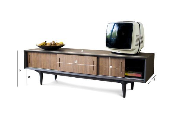 Meuble tv scandinave en bois moderne et l gant pib for Dimension meuble tv