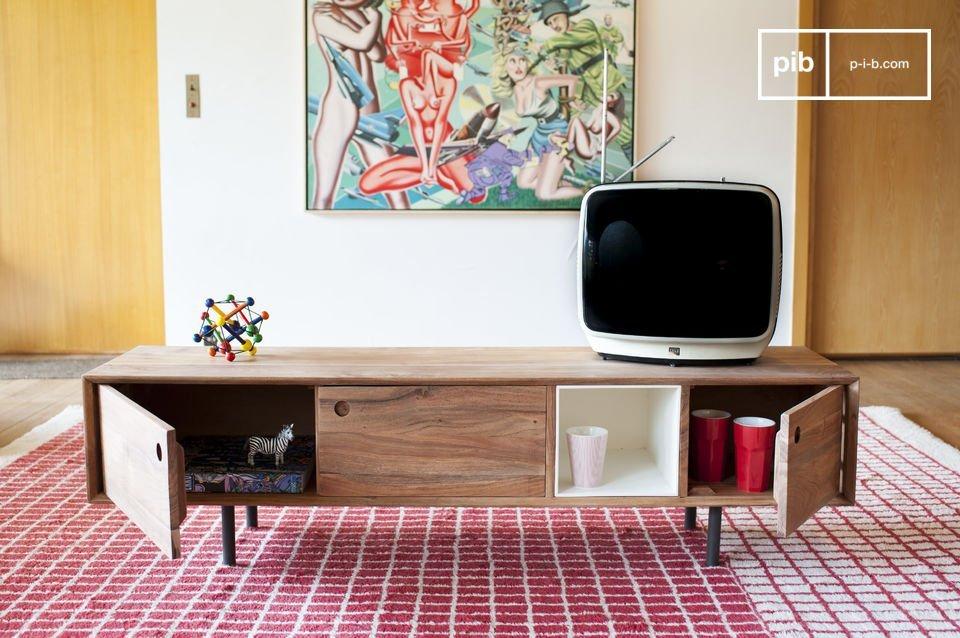 Design haut en contrastes et esprit vintage