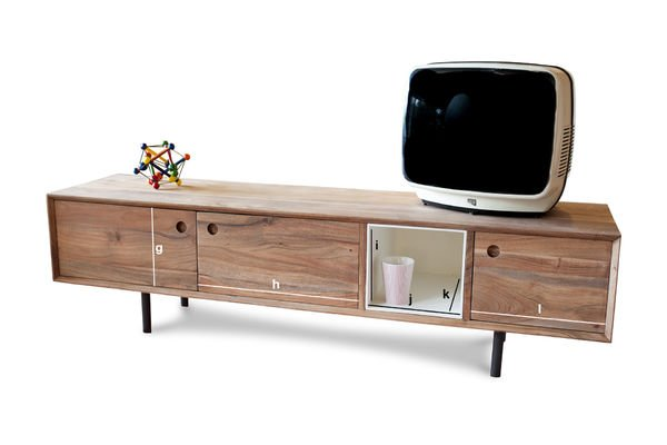 meuble tv vintage bascole design haut en contrastes pib. Black Bedroom Furniture Sets. Home Design Ideas