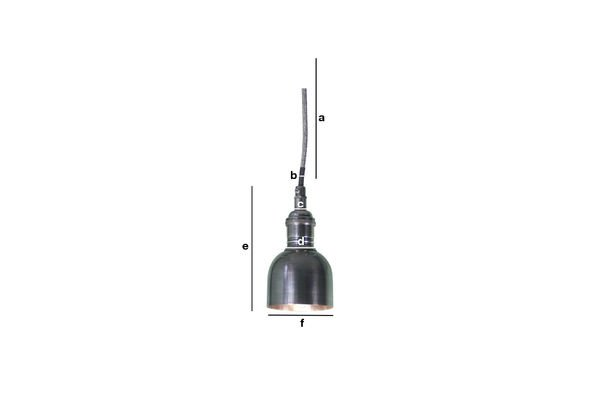 Dimensions du produit Mini suspension cloche