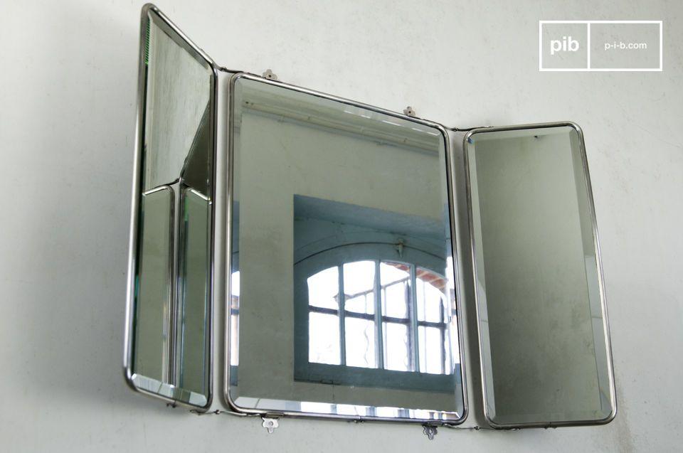 Le miroir à rabats est un superbe élément de déco rétro pour vos murs qui, en plus d\'apporter de la lumière à votre intérieur, contribuera à lui donner une impression de profondeur