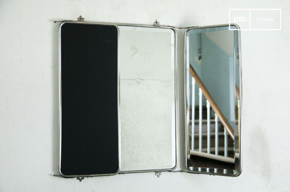 Le miroir à rabats est un superbe élément de déco rétro pour vos murs qui