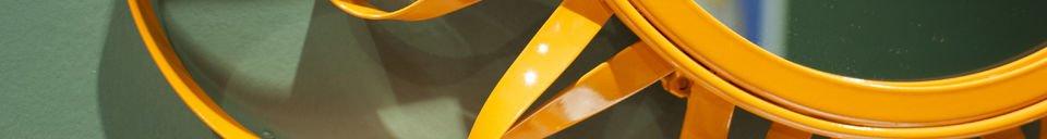 Mise en avant matière Miroir Aurinko orange