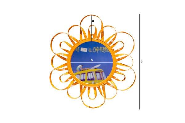Dimensions du produit Miroir Aurinko orange