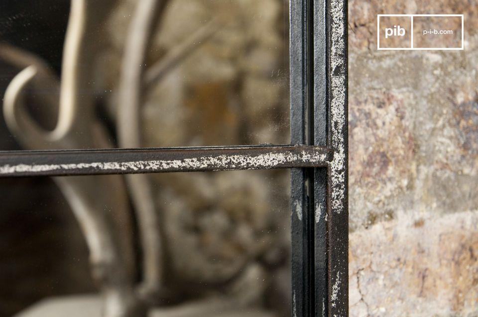 Miroir au design industriel cadre en métal