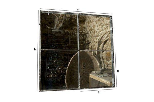 Dimensions du produit Miroir carré 4 sections