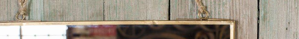 Mise en avant matière Miroir carré Solliès-Pont doré
