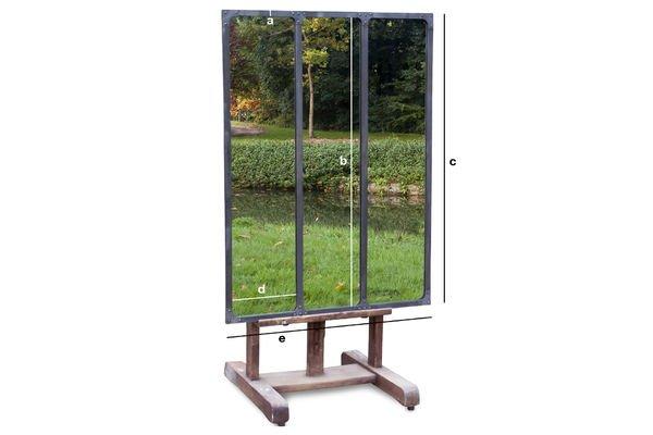 Dimensions du produit Miroir d'atelier à cadre métallique