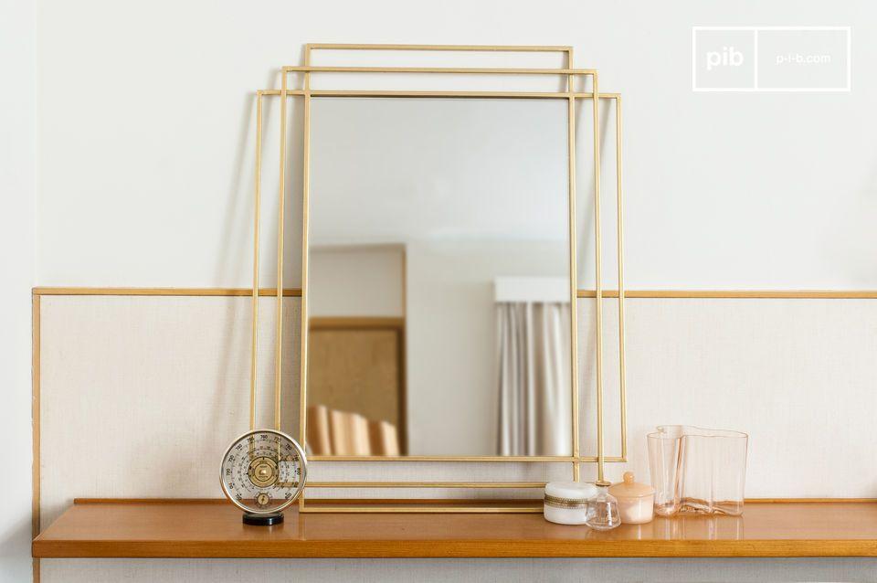 Miroir doré Alma