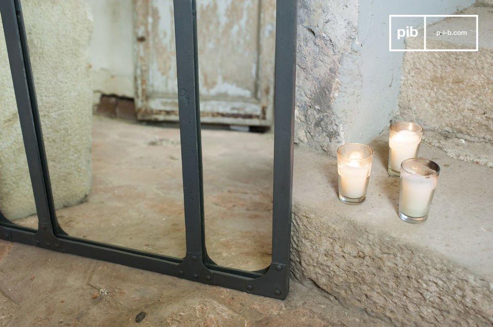 miroir eiffel style industriel structure m tallique pib. Black Bedroom Furniture Sets. Home Design Ideas